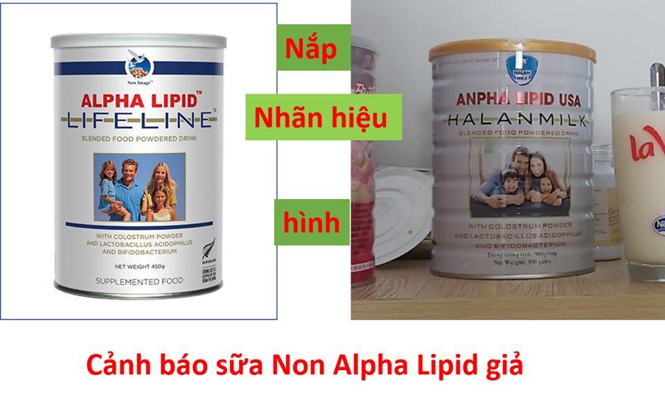 Phanh phui sữa non Alpha Lipid Life Line lừa đảo!